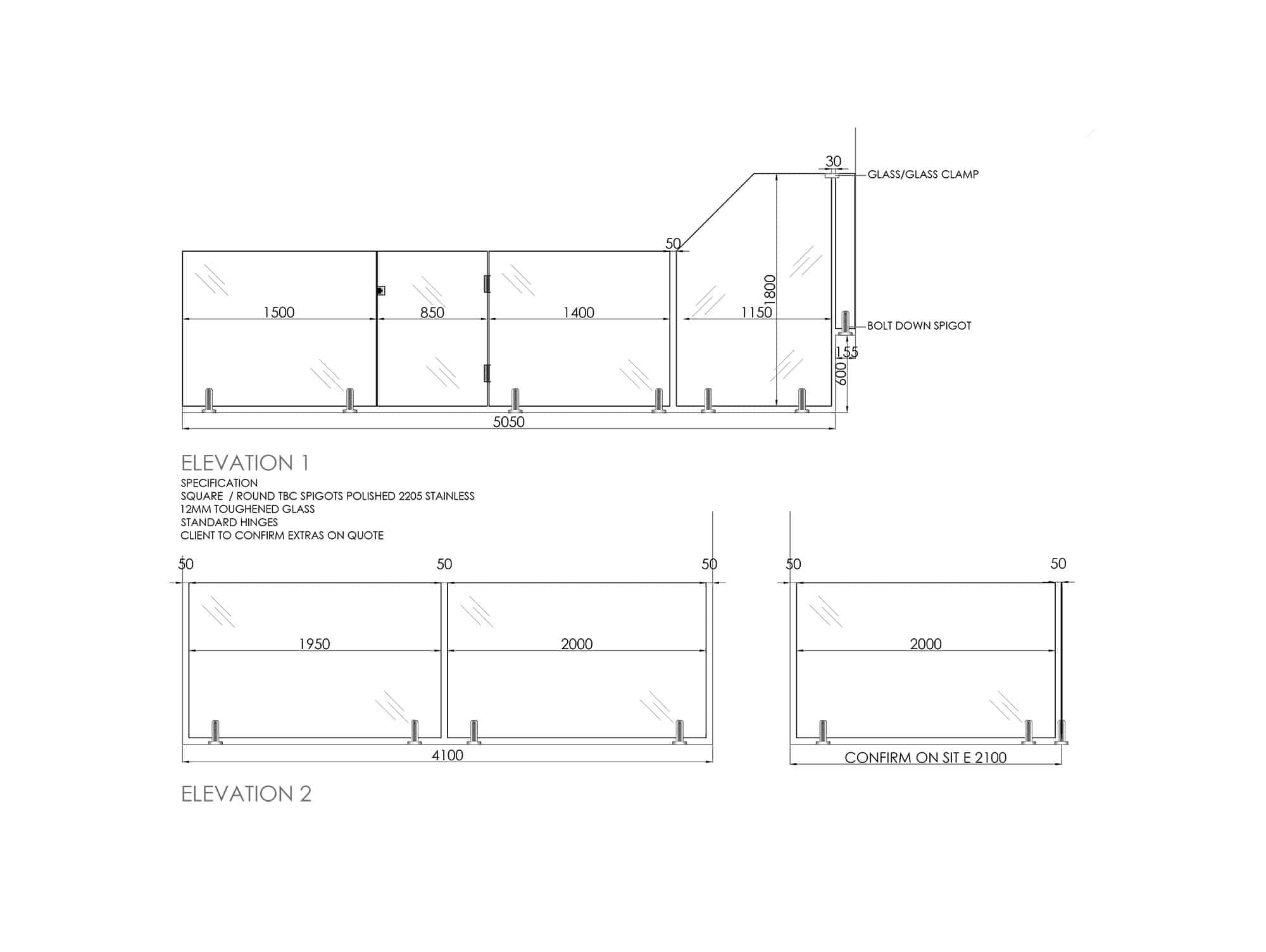 Cad Drawing Platinum Barriers